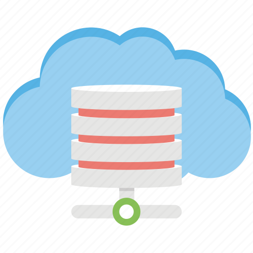 cloud independent access, decentralized cloud, distributed cloud, encrypted cloud database, securing data communication icon