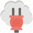 cloud drive, cloud network plug, cloud service, plug cloud, plugin cloud networking icon