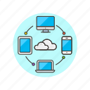 cloud, computing, device, network icon