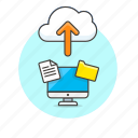 arrow, cloud, computer, file, folder, personal, technology, upload icon