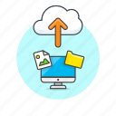 arrow, cloud, computer, file, image, personal, picture, upload icon