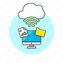 cloud, computer, connection, image, personal, picture, wifi, wireless icon