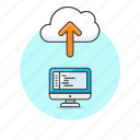 arrow, cloud, code, computer, file, personal, technology, upload icon