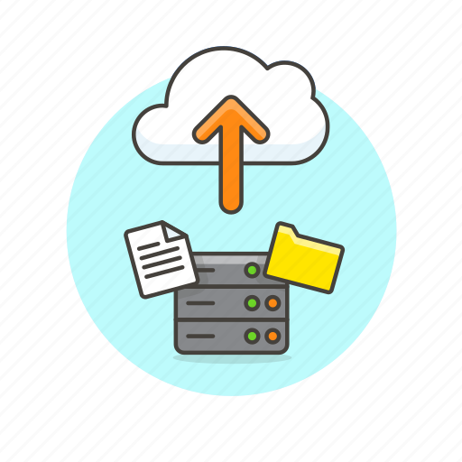 arrow, cloud, document, file, send, server, technology, upload icon