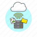 cloud, connection, file, image, picture, server, wifi, wireless icon