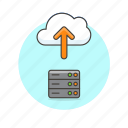 arrow, cloud, computing, file, server, technology, upload icon