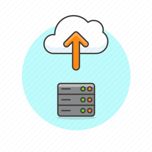 arrow, cloud, computing, file, server, technology, upload icon