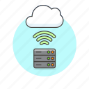 cloud, connection, file, server, technology, wifi, wireless icon