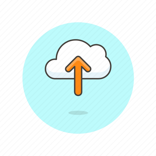 arrow, cloud, computing, file, send, technology, upload icon