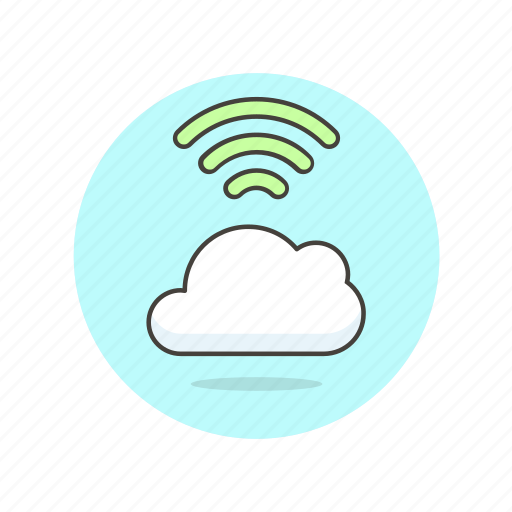 cloud, computing, connection, file, storage, technology, wifi, wireless icon