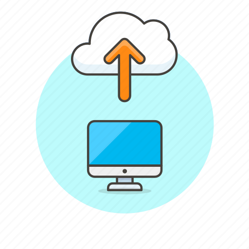 arrow, cloud, file, send, technology, up, upload icon