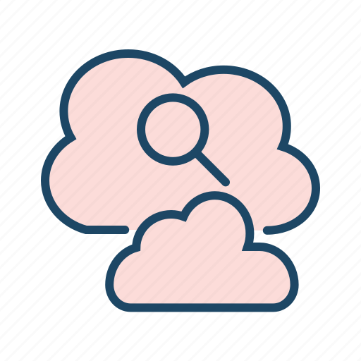 cloud data, cloud research, search data, search engine, seo icon