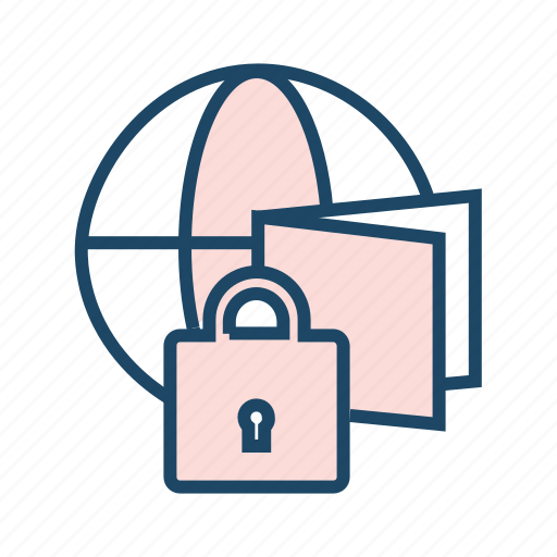 cloud data, global storage, protected data, protected file, secured drive, secured folder icon