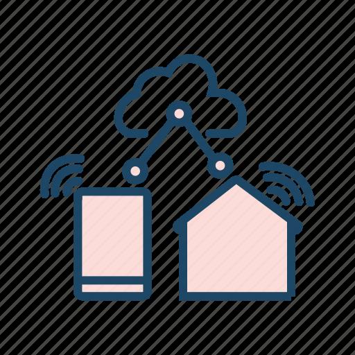 cloud computing, cloud data transfer, cloud network, cloud storage, shared drive icon