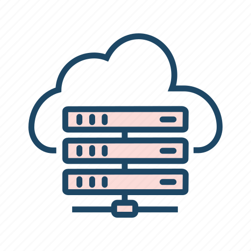 bigdata, cloud data center, cloud database, cloud server, cloud storage, hosting server icon
