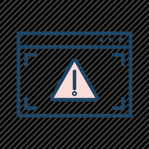 alert, network not found, online error, webpage error, webpage warning, website error icon