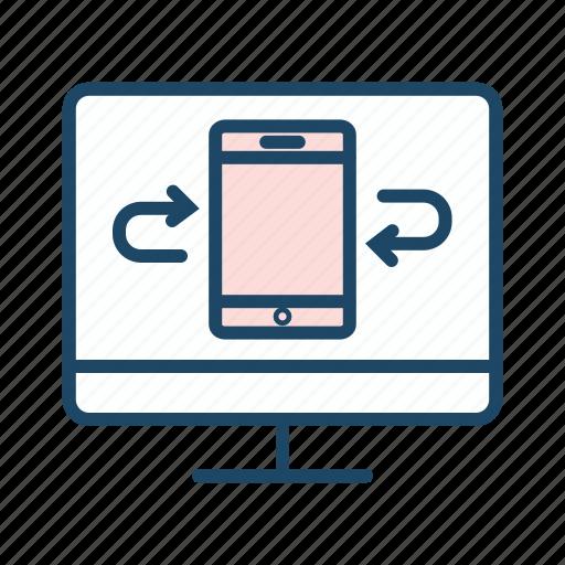 communication, data transfer, file transfer, mobile network icon