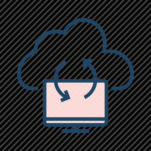 cloud backup, cloud computing, cloud database, cloud network, cloud server, hosting application, hosting server icon