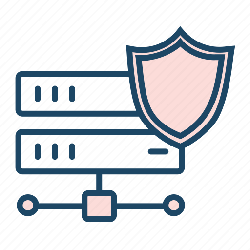 cloud data center, protected data, protected storage, secured data, secured drive icon