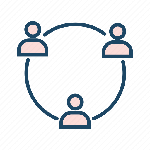 conference, group chat, group conversation, social media icon