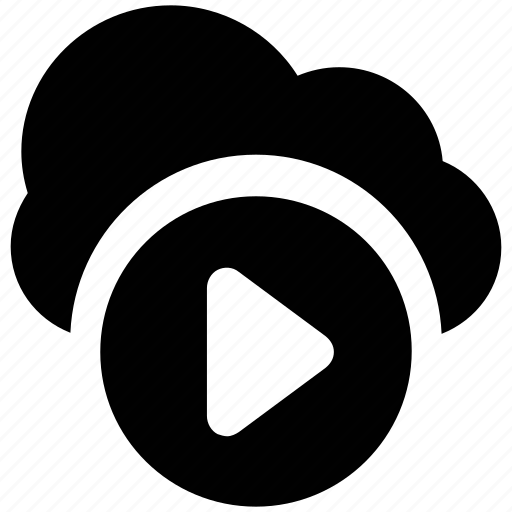 cloud media, cloud network, network application, network service, online broadcasting, online media, online multimedia icon