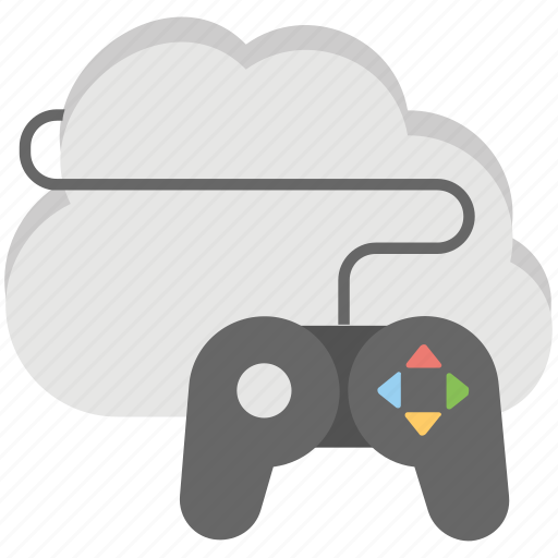 cloud based games, cloud games network, cloud gaming, cloud-based gaming application, online video games icon