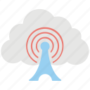 cloud computing wifi, cloud connection, cloud hotspot, cloud wifi tower, wifi cloud icon