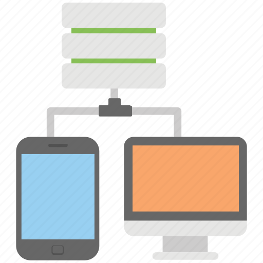 client server, data sharing, hosting server, internet sharing, network sharing icon