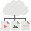 cloud computing, cloud data center, cloud data network, cloud information technology, cloud storage icon