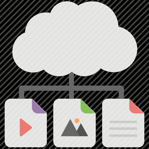 cloud computing, cloud data center, cloud data network, cloud information technology, cloud storage icon