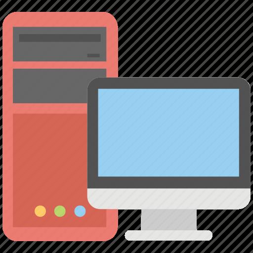 computer, desktop, desktop computer, pc, personal computer icon