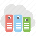 cloud storage, file storage cloud server, online drive, online storage, store document online icon