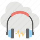 cloud computing media, cloud computing music, cloud music, online media, share music icon