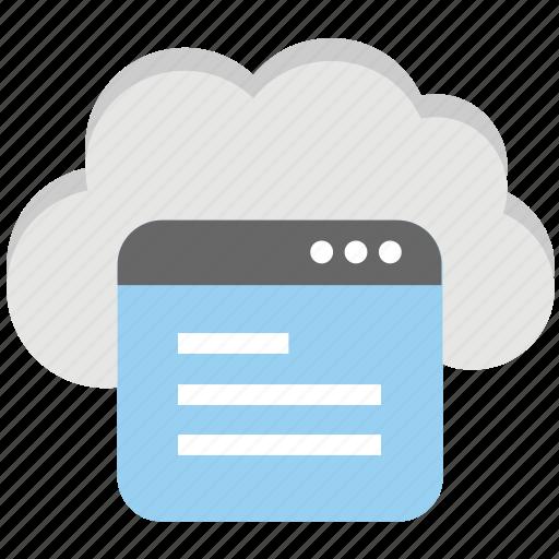 cloud services, cloud software, cloud storage site, cloud website hosting, site cloud icon