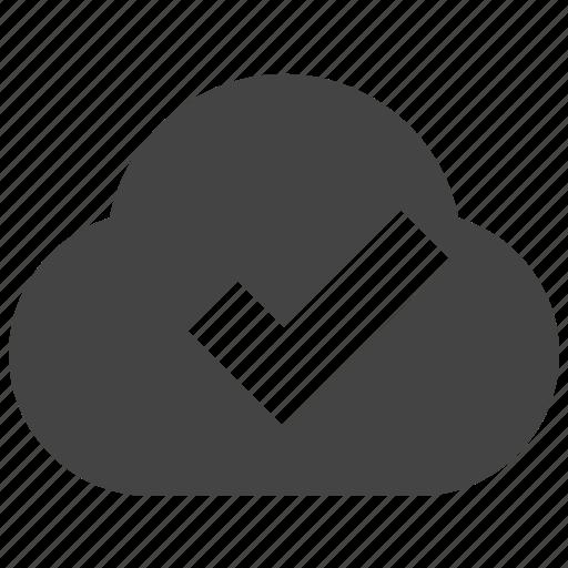 check, cloud, connect, remote icon