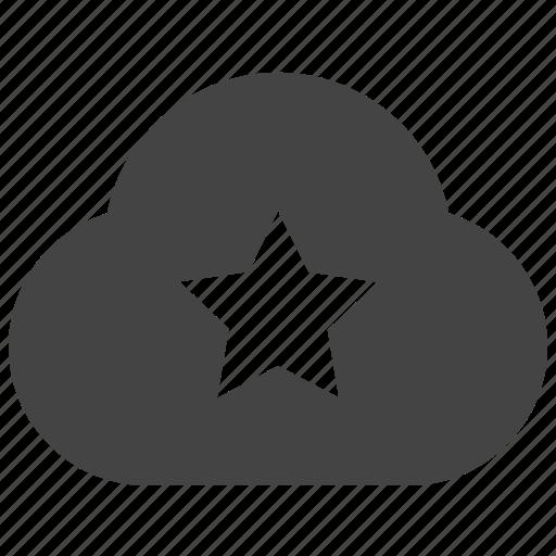 cloud, connect, remote, star icon