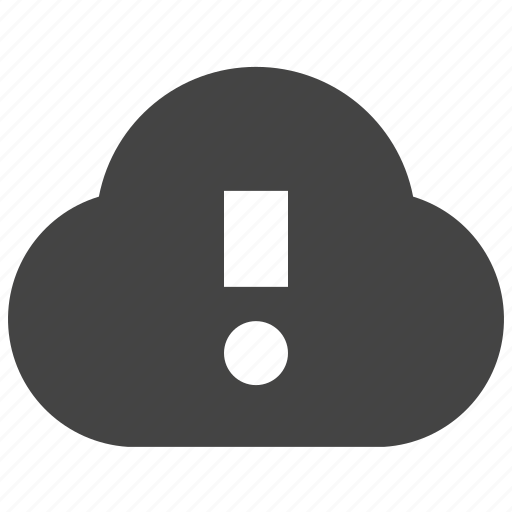 cloud, connect, remote, warning icon