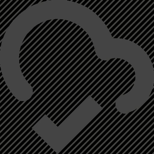 cdn, check, cloud, connect, remote, tick, verified icon