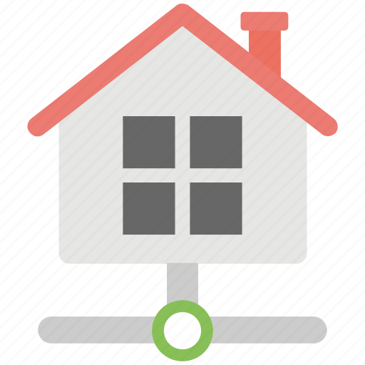 computer application, connected home, home networking, line home network, local area network icon