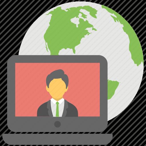 broadcasting, global broadcasting, global communication, global news, online communication icon