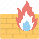 antivirus, antivirus firewall, fire safety, firewall, malware protection icon