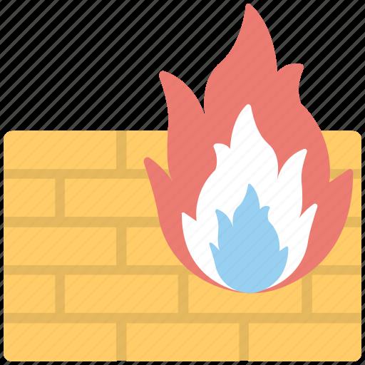 antivirus, antivirus firewall, fire safety, firewall, malware protection icon