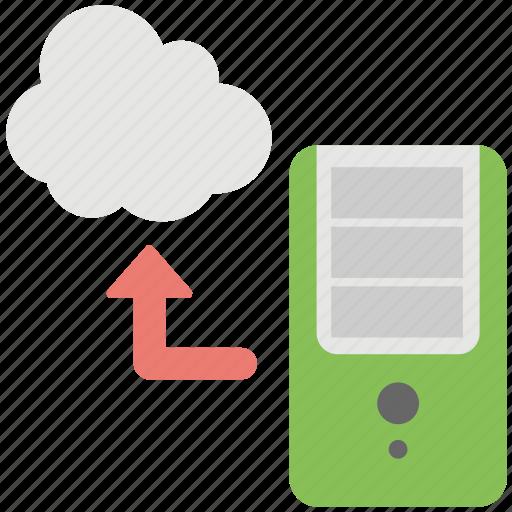 cloud computing, cloud cpu, cloud processor, hybrid cloud icon