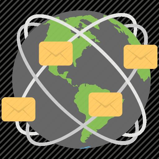 cyberspace, global digital mesh network, global network, global network connectivity, global technology icon