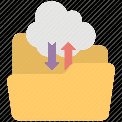 cloud based folder, cloud computing, cloud computing service, cloud data transfer, cloud storage icon