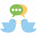 bird chat, chatting, social media, social network, tweets icon