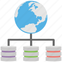 global database, global lan, global representing network, global server, global server hierarchy icon