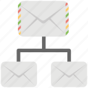 email marketing, email networking, mail server, online mail services icon