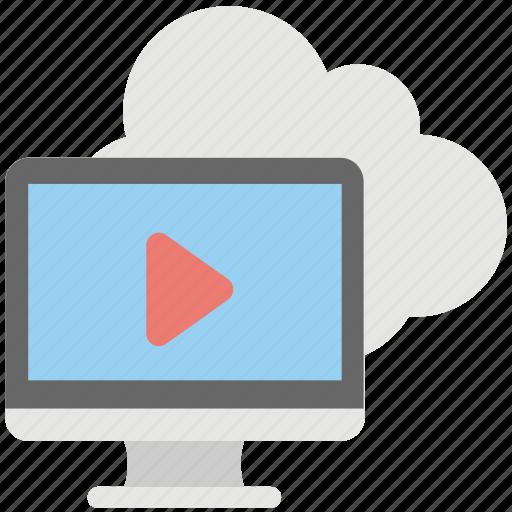 cloud media, cloud media player, cloud multimedia, online entertainment, online media icon