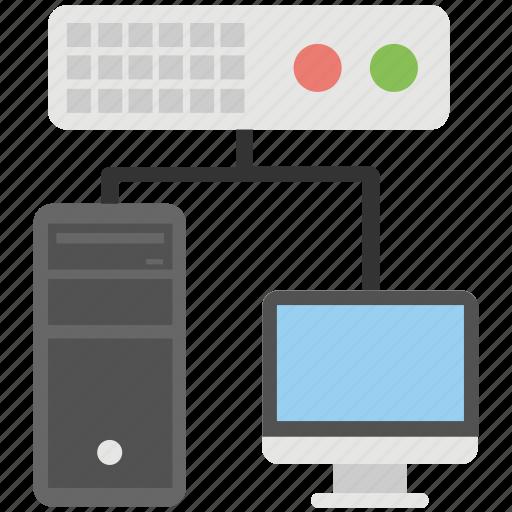 data sharing, hosting, internet connection, network, web server icon